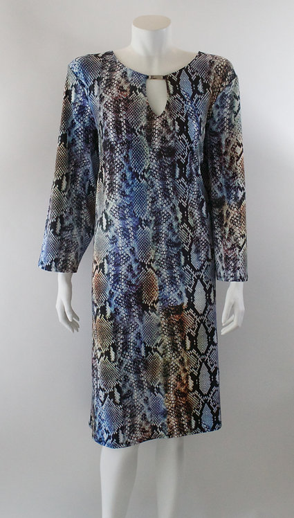 Abstract Print Knit Dress