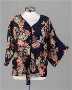 Floral Tie Top Blouse
