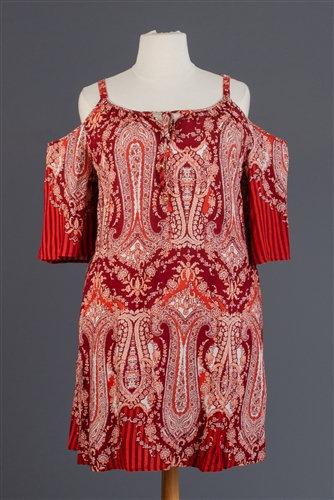Shoulder Paisley Dress