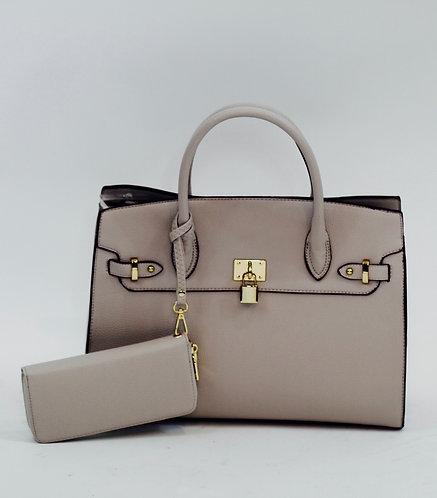 Tan Lock Handbag/wallet