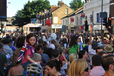 In 2012 the Olympics came to London. during the build up to the games, the torch was taken around the country in a sort of relay to rally and excite the people of the UK about the upcoming games. This was shot at the bottom of our road in Earlsfield, London.