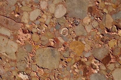 Part of the wall of Montserrat Abbey, Catalunya