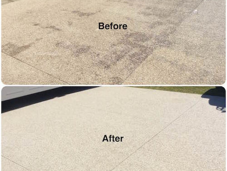 Perth pressure washing and sealing exposed aggregate driveway