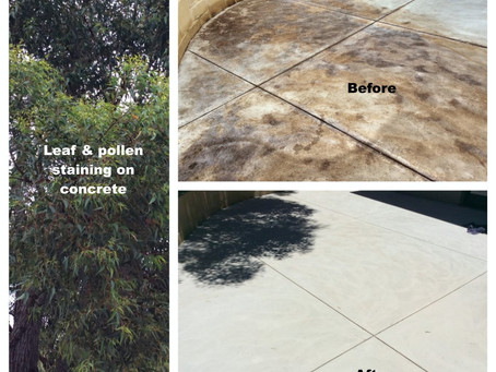 Stain Removal From Concrete