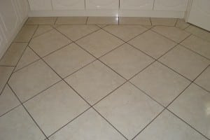 BEFORE grout colour sealing