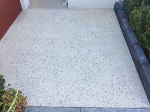 Strip & re-seal exposed aggregate - AFTER