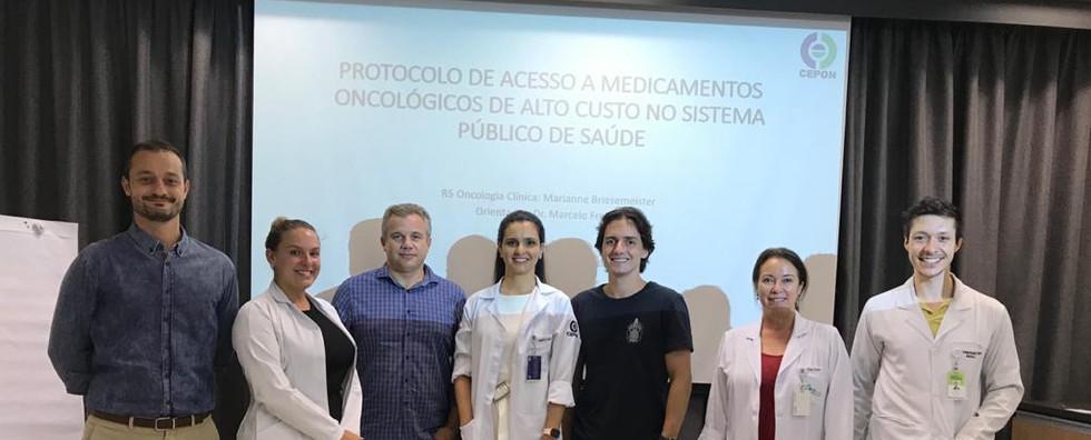 Protocolo de acesso a medicamentos oncologicos de alto custo no SUS