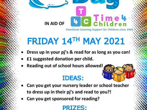 Time 4 Children Pyjama Day                    Friday 14 May 2021
