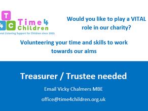 Treasurer / Trustee required ideally to start September 2021