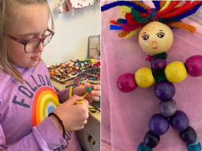 Eva and her worry dolls raise £111 for Time 4 Children