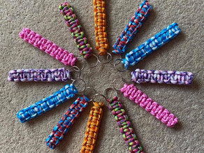 12 year old Ollie's Keyrings - What a Bright Idea to come up with
