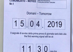 Warning signal for 15th of April (GARDA)
