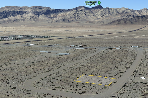 0.136 Acre Property with Power Lines on it just outside of Pahrump, Nevada