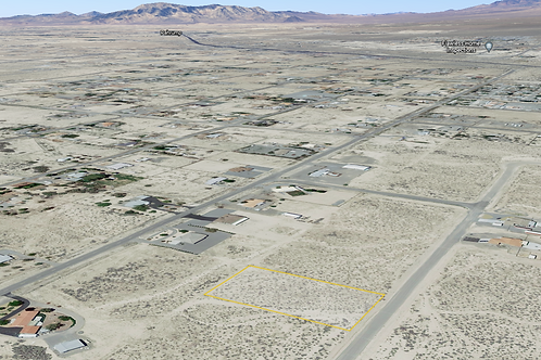 1.01 Acre Property in  a Nice Neighborhood with Power Lines in Pahrump, NV