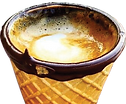 Coffee in a cone cup.png