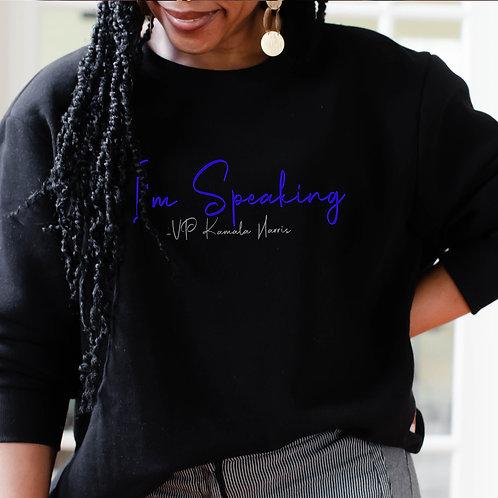 "Zeta's For Kamala Harris ""I'm Speaking"" | Zeta Phi Beta Women's Sweatshirt"