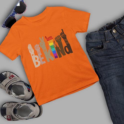 Be Kind T Shirt   Girl Boy Positive Affirmation TShirt    Kids Cotton T-Shirt
