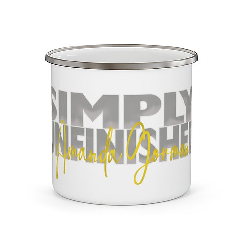 "Amanda Gorman - ""Simply Unfinished"" Coffee Tea Cup | Inaugural Poet Mug 12 oz"