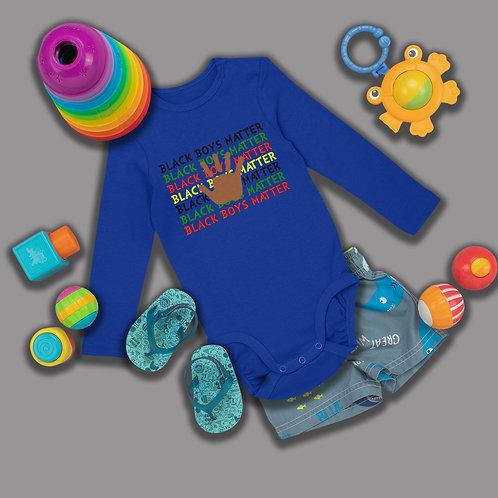 Black Boys Matter Shirt | BLM Onsie Baby Clothing | Infant Long Sleeve Bodysuit