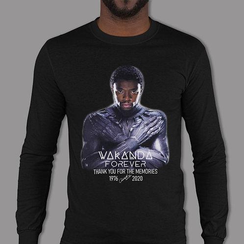 Chadwick Boseman | Wakanda Forever | Black Panther | Unisex Long Sleeve T-Shirt