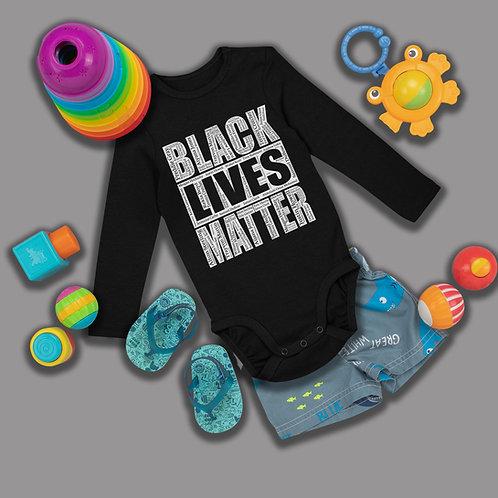 Black Kids Matter Shirt   BLM Baby Onsie Clothing   Infant Long Sleeve Bodysuit