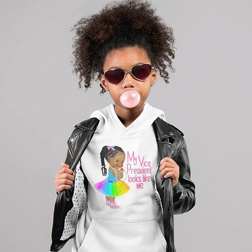 "Kamala Harris ""My Vice President Looks Like Me"" | Girls Youth Hooded Sweatshirt"