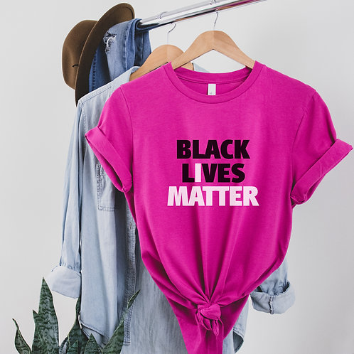 Black Lives Matter Shirt | BLM Adult Clothing | Unisex Short Sleeve T-Shirt