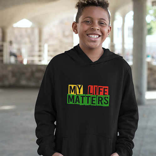 """My Life Matters"" | Kids Youth Hooded Sweatshirt"