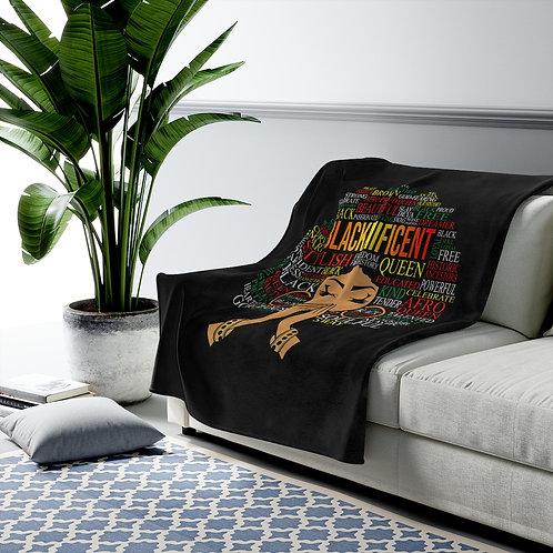 Blacknificent Velveteen Plush Blanket Throw