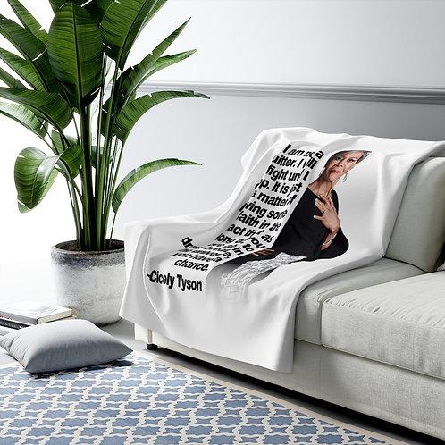 Cicely Tyson Sherpa Fleece Blanket | Black Lives Matter
