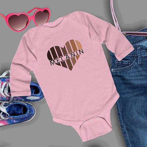 Melanin Black Girls Matter Shirt | BLM Onsie | Infant Long Sleeve Bodysuit