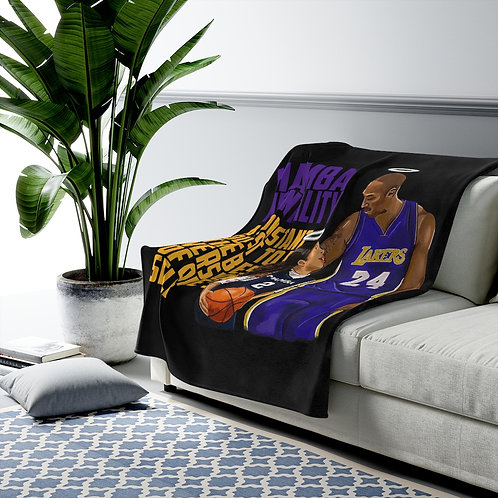 RIP Kobe Bryant | NBA Los Angeles Lakers Tribute Velveteen Plush Blanket