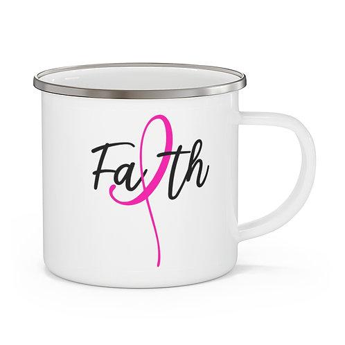Faith - Breast Cancer Awareness Coffee Tea Cup   Faith Mug 12 oz