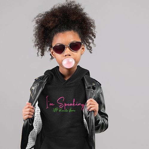 "Kamala Harris ""I'm Speaking"" | Alpha Kappa Alpha Girls Youth Hooded Sweatshirt"