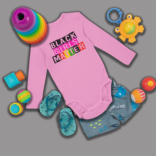 Black Girls Matter Shirt | Baby Onsie Clothing | Infant Long Sleeve Bodysuit