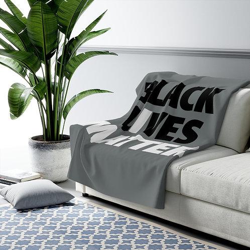 Black Lives Matter Sherpa Fleece Blanket
