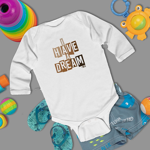 I Have A Dream Onesie | In Honor Of Black History Infant Long Sleeve Bodysuit