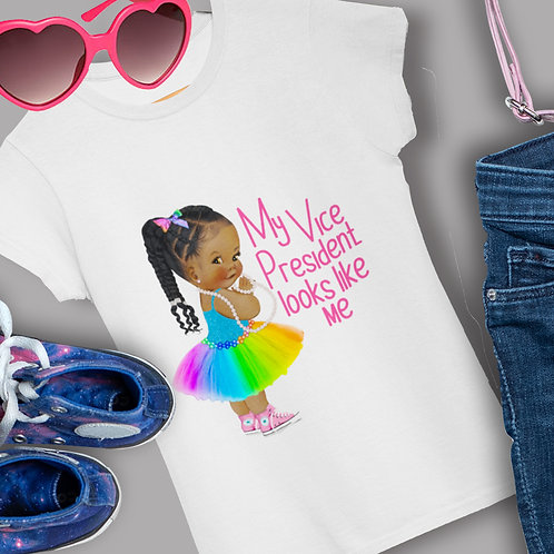 My Vice President Looks Like Me Shirt Princess Fit Girls T-Shirt