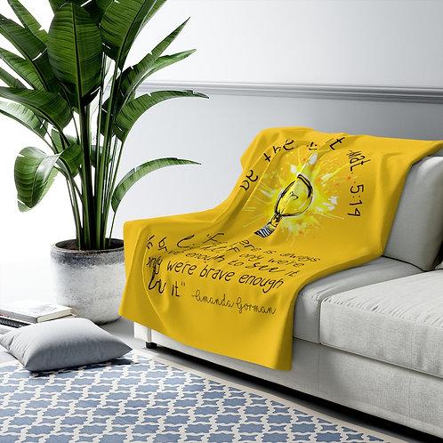 "Amanda Gorman ""Be The Light"" Mathew 5:14   Sherpa Fleece Blanket"
