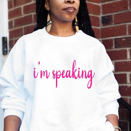 Kamala Harris | I'm Speaking Women's Heavy Blend Crewneck Sweatshirt