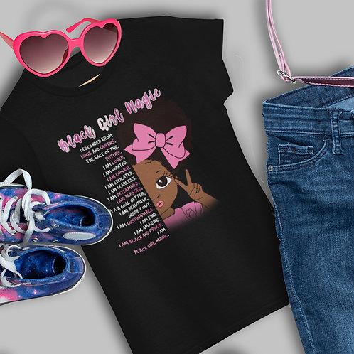 Black Girl Magic Shirt | African American | Princess Fit Girls T-Shirt