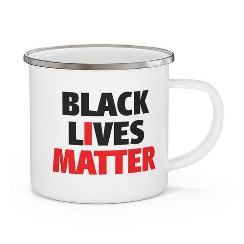 Black Lives Matter Mug   Black History Coffee   BLM Enamel Campfire Mug 12 oz