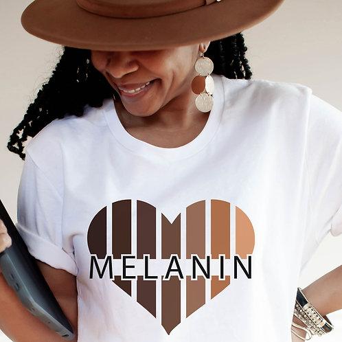 Melanin Heart | Black Queen | Black Girl Magic | Unisex T-Shirt