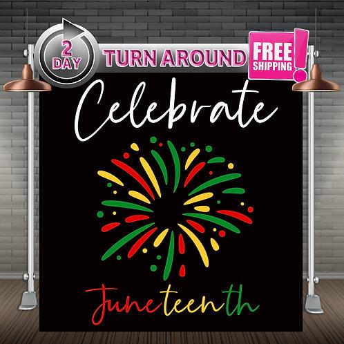 Celebrate Juneteenth | BLM Backdrop | Liberation Day Flag JUNETEENTH
