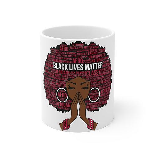 Black Lives Matter Afro Mug 11oz