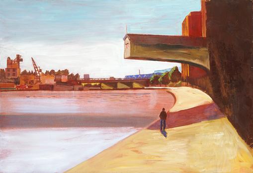 Pantin, au bord du canal