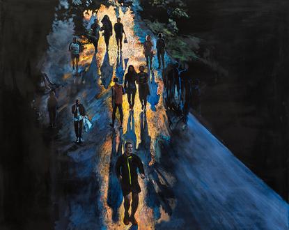 Promeneurs au crépuscule II