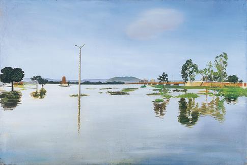 Le pont des martyrs, l'inondation