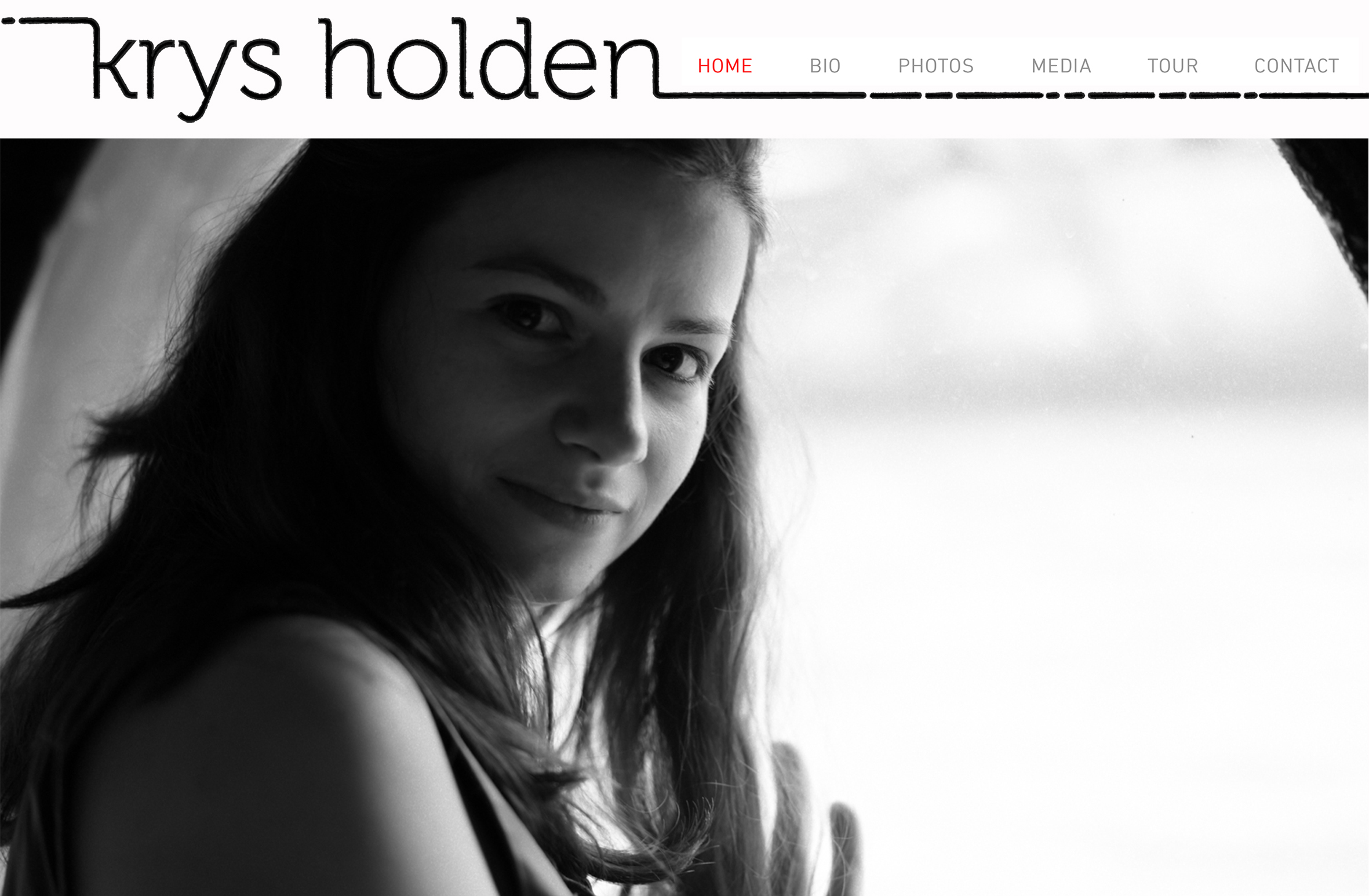 Krys Holden, chanteuse