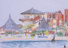 La piscine de l'hotel Amitié